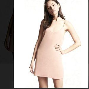 Blush nude slip dress mini v neck tank Cami pink s